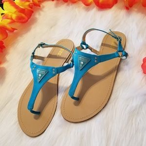 G by Guess Turquoise Thong Sandals
